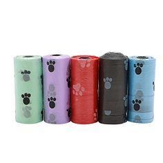 LAYs Pet Dog Poop Waste Bag Biodegradable Assorted Color 75Pcs for Pet Poo Home Garden Cleaning *** Find out more details @