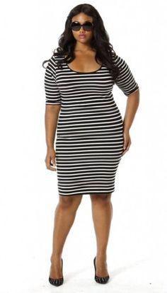 Fashion BUg Womens Plus Size Stretch Body Con Dress www.fashionbug.us #curvy