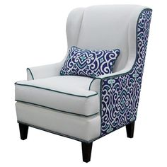 White furniture isn't a good idea at my house -- but the 2-tone approach is unusual & fun