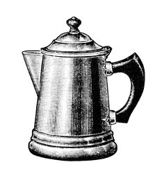 vintage coffee pot clipart old fashioned coffee maker black and rh pinterest com