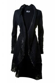 cardigan with raw edges