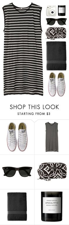 """""""day 1: jadyn's 3k set challenge"""" by via-m ❤ liked on Polyvore featuring Converse, R13, Ray-Ban, Vera Bradley, Royal Velvet, Fujifilm and Byredo"""