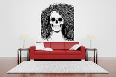 Wall Vinyl Sticker Decals Mural Room Design Pattern Scull Skeleton Zombie Girl Face bo553