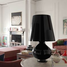 "Celebrating the 60th year anniversary ""Fontana Total Black"" by Fontana Arte designed in 1954 by Max Ingrand."