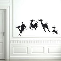 Invitez ces adorables petites biches à gambader sur les murs de la chambre de vos enfants !