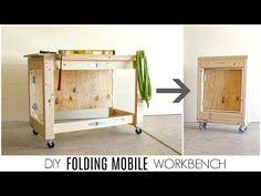 В этом обзоре вы узнаете, как сделать своими руками складной мобильный верстак из недорогих материалов, которые можно найти в любом строительном магазине.