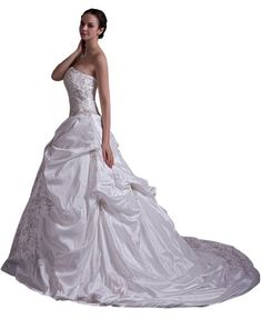 GEORGE BRIDE Luxurious Sweetheart Embroidery New Outdoor Wedding  - Click image twice for more info - See a larger selection of bridal dress at http://zweddingsupply.com/product-category/bridal-dresses/ - women, bride, wedding, wedding style, wedding fashion - Click image twice for more info - See a larger selection of bridal dress at http://zweddingsupply.com/product-category/bridal-dresses/ - women, bride, wedding, wedding style, wedding fashion