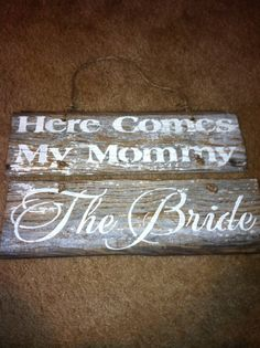 Ring bearer sign to carry here comes my by MasonDixonLineSignCo, $20.00