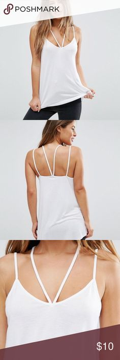 ASOS PETITE The Ultimate Cami With Caging Detail ASOS PETITE The Ultimate Cami With Caging Detail. Brand New Perfect Condition. Size UK 2 ASOS Petite Tops Tank Tops