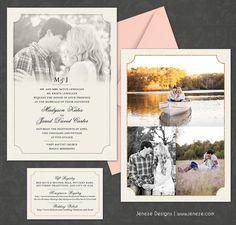Beautiful photo wedding invitation set by Jeneze Designs.  www.jeneze.com