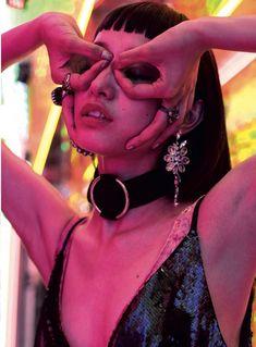"""Neon Nights"" Yuka Mannami photographed by Piczo for Asos Magazine December 2016 Stylist: Magda Bryk Hair: Takuya Baba Makeup: Naomi T. Neon Photography, Creative Photography, Portrait Photography, Fashion Photography, Art Reference Poses, Photo Reference, Aesthetic Photo, Aesthetic Pictures, Photographie Indie"