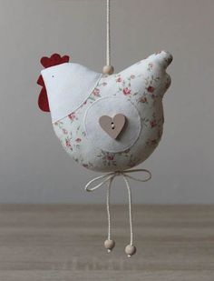 Risultato immagini per duka zajaczki z tkaniny Chicken Crafts, Chicken Art, Easter Crafts, Christmas Crafts, Christmas Ornaments, Diy And Crafts, Crafts For Kids, Sewing Projects, Craft Projects