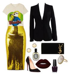 """""""Untitled #6"""" by morgandexler on Polyvore featuring MadeWorn, Tom Ford, Christian Louboutin, Bloomingdale's, Yves Saint Laurent, Dolce&Gabbana, Lime Crime, Diptyque and Andrea Fohrman"""
