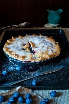 4himglory:  Blueberry Pie by magshendey on Flickr.