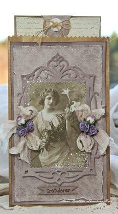 Anne's paper fun: Posekort (Pion Design - Flower Frames)