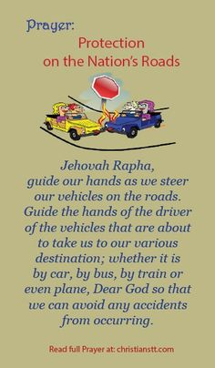 A Prayer for Protection and for Traveling Mercies