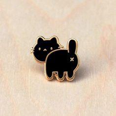 Cat Butt Pin - Black | Doctor Cat Shop