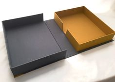 Such beautiful colours! One of a kind handcrafted ClamShell Box Drop Spine by DreamBinding