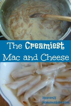 Creamy Mac and Cheese mampf mampf Cheese Recipes, Veggie Recipes, Whole Food Recipes, Easy Recipes, Best Homemade Mac And Cheese Recipe, Creamy Mac And Cheese, Whole Wheat Pasta, Special Recipes, Meal Planner