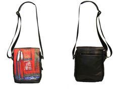 "Red Cross Body Handbag, Mario Hernandez, ""DeBilzan Collection.""  Available at William DeBilzan Gallery, Delray Beach, FL and Laguna Beach, CA."