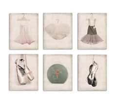 Six Canvases Ready to Hang, Ballet Inspired Prints