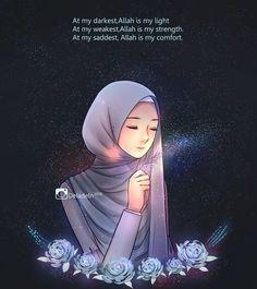 ideas quotes wallpaper iphone islamic for 2019 Beautiful Islamic Quotes, Islamic Inspirational Quotes, Hijab Drawing, Islamic Cartoon, Islam Women, Image Citation, Hijab Cartoon, Islamic Quotes Wallpaper, Love In Islam