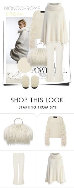 """one color"" by marybloom ❤ liked on Polyvore featuring Tabula Rasa, Proenza Schouler, Chicwish, Helmut Lang, monochrome, cream and knitpants"