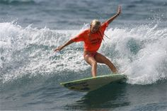 Bethany Hamilton before the shark attack
