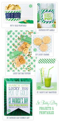 What would St. Patrick's Day be without a healthy dose of emerald green and at least a touch of gold? We've taken a peek into the One Charming Party archives for plenty of great green and gold printables and project ideas that are sure to bring a little luck to whatever special St. Patrick's Day festivities you're planning this year.
