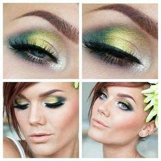 Facebook page : Makeup and beauty / my world - #greenshadow #goldshadow #eyemakeup #eyes #makeup  - bellashoot.com