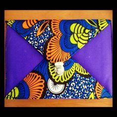 African Print Envelope Clutch. Made in Kenya