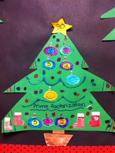 Christmas Factor Trees! Practicing prime factorization decked in holiday cheer! Fancy Free in Fourth