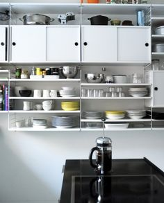 String kitchen shelves