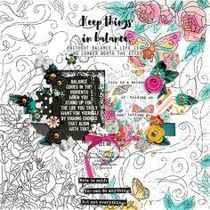 Everyday: Balance bundle by Lauren Grier and Jenn Barrette xiomara font