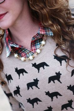 Foxes, plaid & pearls