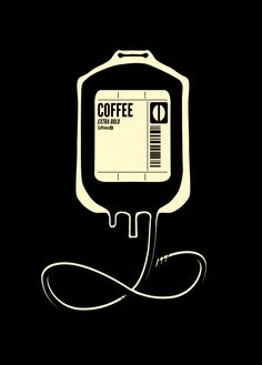 Coffee Transfusion - Black Graphic T-shirt by Tobe Fonseca - Black - LARGE - Mens Fitted Tee Black Framed Art, Framed Art Prints, Coffee Shop Design, Coffee Quotes, Shirts With Sayings, Cool Designs, Shirt Designs, Cafe Food, Coffee Art