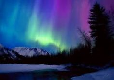 Image result for mountain aurora watercolor