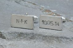 Personalized Initials and Wedding Date Cufflinks