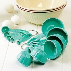 Image result for teal measuring cups dry scallops