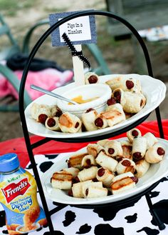 "Toy Story and Cowboy/girl Birthday Party- ""Pigs In a Blanket"" Food Ideas. Many great ideas on this site!"