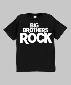 Another great find on #zulily! Black 'Big Brothers Rock' Tee - Infant, Toddler & Boys #zulilyfinds