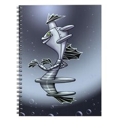 BORO ALIEN ROBOT  CUTE SPIRAL BOOK Custom office supplies #business #logo #branding