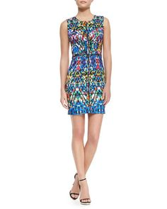 Milly | Stained-Glass-Print Slim Dress - CUSP
