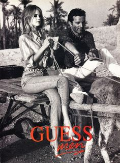 claudia schiffer vintage guess ads3 Throwback Thursday  Claudia Schiffer is a Bombshell in 1989 Guess Ads