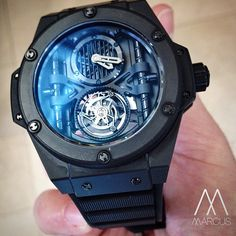 Hublot BiG Bertha the King Power Manufacture Tourbillon limited edition in Black Ceramic.