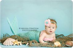 Newborn  0-3 3-6 months mermaid cocoon and bandeau / bikini top Newborn photo props photography