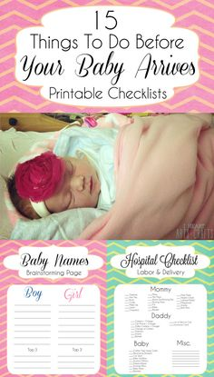 15 Things To Do Before Your Baby Arrives + Printable Checklists Some of this won't be necessary for our homebirth, but it's nice to go over all the details just in case! Little Mac, Little Babies, Baby On The Way, Our Baby, Baby Baby, Baby Momma, 5 Weeks Pregnant, Pregnant Meme, My Bebe