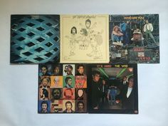 The Who_Lot of 5_Vinyl Record_Tommy/It's Hard/Who Are You/By Numbers/Face Dances #HardRock