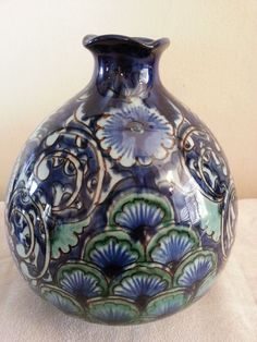 Persian Armenian Turkey?art ceramic pottery Pitcher/vase pomegranate shape,glaze