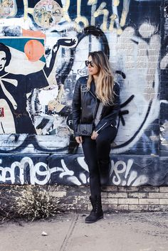 Heritage 1898 - wearing #Kamik boots thanks to @zappos #ootd #Fashion #Look #Style #TotalBlack #Outfit #Style #LeatherJacket #Black